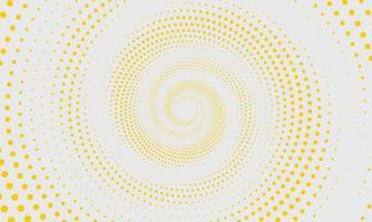 abstrakter gelber Halbtonmusterhintergrund vektor
