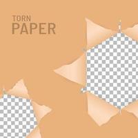 zerrissene Papierlöcher vektor