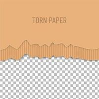 halb zerrissenes Papier vektor