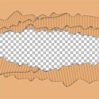 zerrissenes Papier überlappend vektor