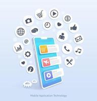 Vektorillustration der Technologie für mobile Anwendungen vektor