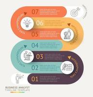 Business Infografiken Timeline Vorlage Hintergrund. Vektorillustration. vektor