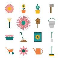 Garten-Icon-Set vektor