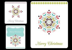 Frohe Weihnachten Tags Vector Pack