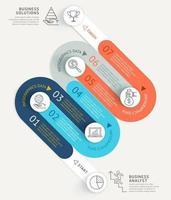 Business Infografiken Timeline Vorlage Hintergrund. Vektorabbildungen. vektor