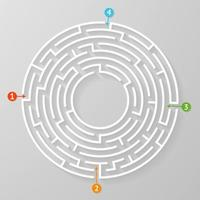 Labyrinth Labyrinth Symbol Form Vektor-Illustration. vektor