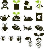 växtikoner. vektor illustrationer.