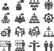 grupp affärsmän ikoner set. vektor illustrationer.