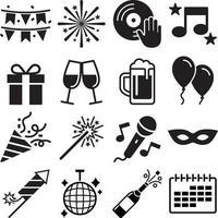 Party-Icons eingestellt. Vektorabbildungen. vektor