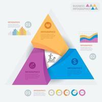 Design-Vorlage für Geschäftsinfografiken. Vektorillustration. Kann für Workflow-Layout, Diagramm, Nummernoptionen, Startoptionen und Webdesign verwendet werden