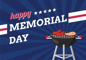 Memorial Day Feier Hintergrund vektor