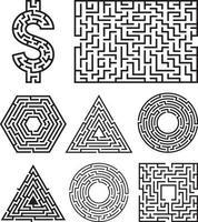 labyrint labyrint symbol form vektorillustration. vektor