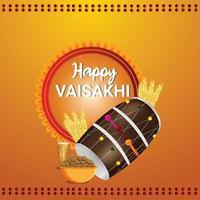 glad vaisakhi illustration och gratulationskort
