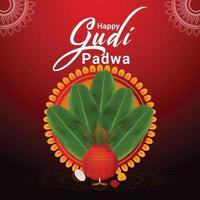 kreativer Hintergrund der Gudi Padwa Feier vektor