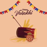 glückliches baisakhi flaches Designkonzept