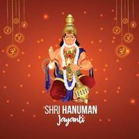kreativ illustration av hanuman jayanti