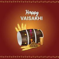 glücklicher Vaisakhi-Feierhintergrund