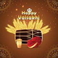 glücklicher Vaisakhi realistischer Hintergrund