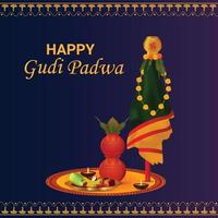 glad gudi padwa sydindisk festivalbakgrund