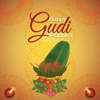 gudi padwa kreativt realistiskt gratulationskort