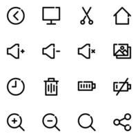 Icon Pack für Benutzeroberflächenerfahrungen vektor