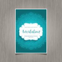 Dekorativer Einladungshintergrund vektor