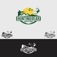 Jagd Logo Design Vektor Vorlage