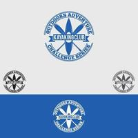 kajakpaddling klubb logotyp formgivningsmall vektor