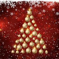 Weihnachtsbaum der Kugeln vektor