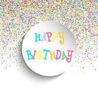 Herzlichen Glückwunsch zum Geburtstag Hintergrund vektor