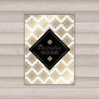 Dekorativ broschyrdesign vektor