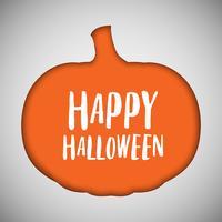 Halloween-Hintergrundkürbis herausgeschnittene Form