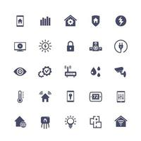 Smart Home, Hausautomationssystem Symbole gesetzt, vector.eps vektor