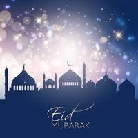 Bakgrund till Eid Mubarak vektor