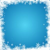 Grunge snöflinga gräns vektor