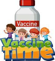 Impfzeit Schriftart mit vektor