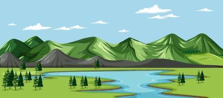 en grön natur landskap bakgrund