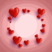 Hjärtan bakgrund vektor