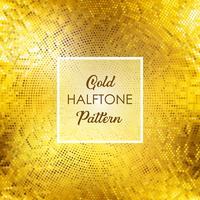 Gold-Halbtonmusterhintergrund