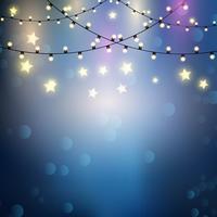 Weihnachtsbeleuchtung Hintergrund vektor