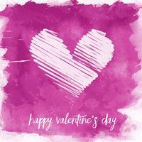 Akvarell Alla hjärtans dag bakgrund