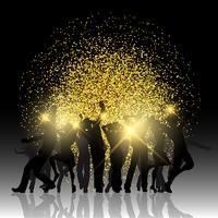 Party människor på glitter bakgrund vektor