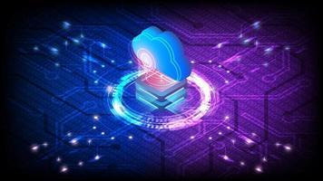 isometrischer Cloud-Server vektor