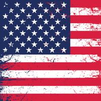 Grunge Hintergrund der amerikanischen Flagge vektor