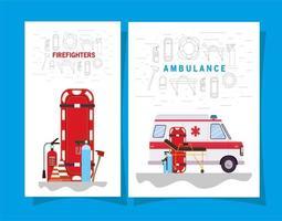 medizinisches Notfallbannerset vektor