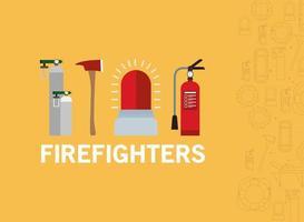 Feuerwehrmann Notfallbanner vektor