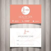Health Spa oder Kosmetiker Visitenkarte vektor