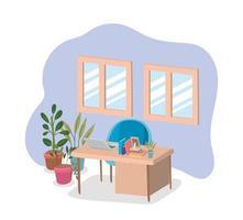 Home-Office-Szene vektor