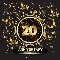 20 Jahre Jubiläum Logo Vorlage Vektor