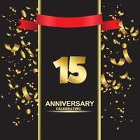 15 Jahre Jubiläum Vektor Vorlage Design Illustration